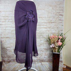 Fenn Wright Manson Floral Applique Skirt  6/8 EUC